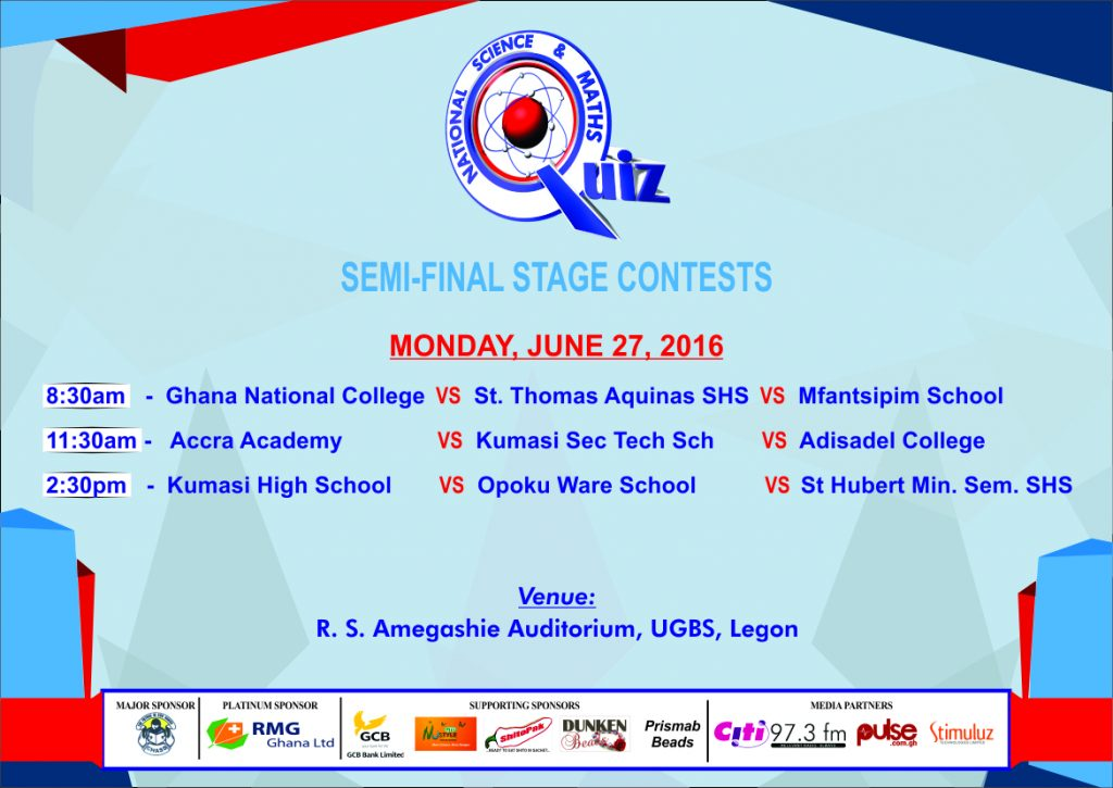 Semifinal contests of National Science & Maths Quiz 2016