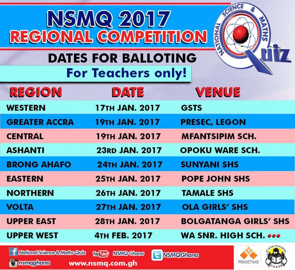NSMQ2017 Regional Competitions
