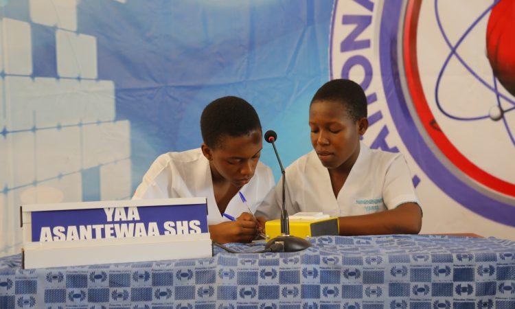 Yaa Asantewaa Girls' SHS competing in the NSMQ2017 Ashanti Regional Competition