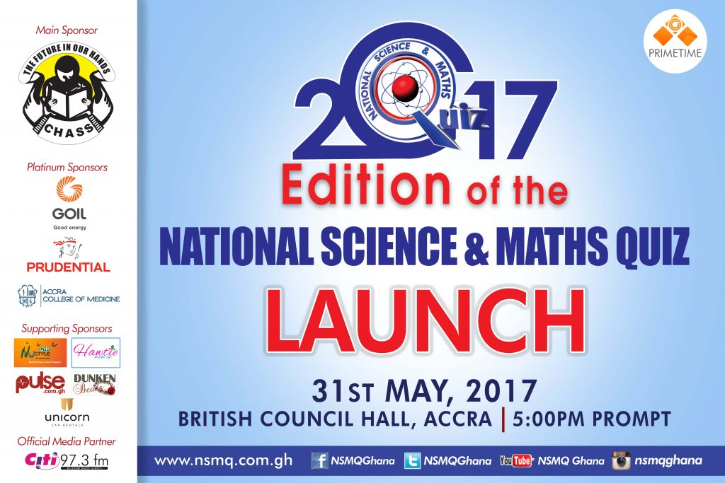 NSMQ2017 to be launched on May 31