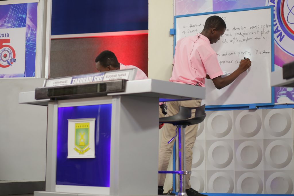 "Contestant of Takoradi SHS presenting their ""Problem of the Day"""
